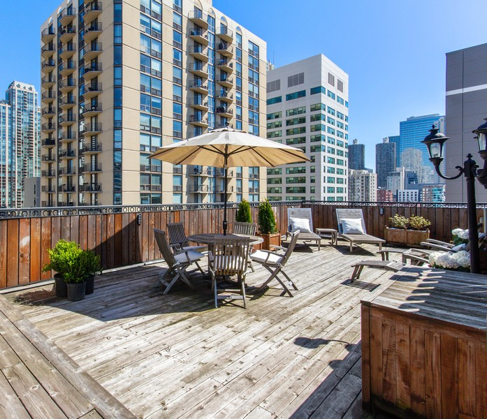 Real Estate Photography - 101 W Superior St, Unit 1204, Chicago, IL, 60611 - Private Roof Deck