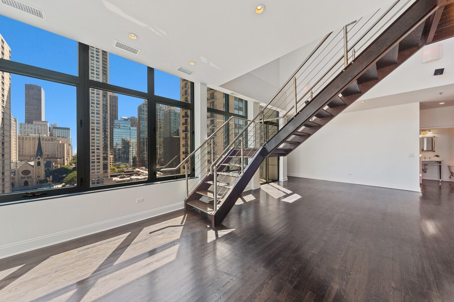 Real Estate Photography - 101 W Superior St, Unit 1204, Chicago, IL, 60611 - Living Room/Dining Room