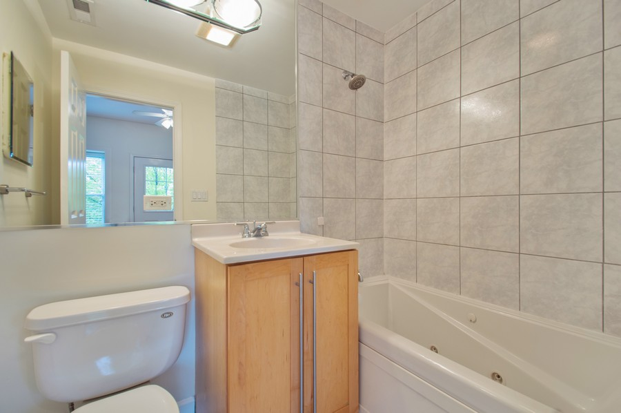 Real Estate Photography - 845 West Lawrence Ave, 2W, Chicago, IL, 60640 - Master Bathroom