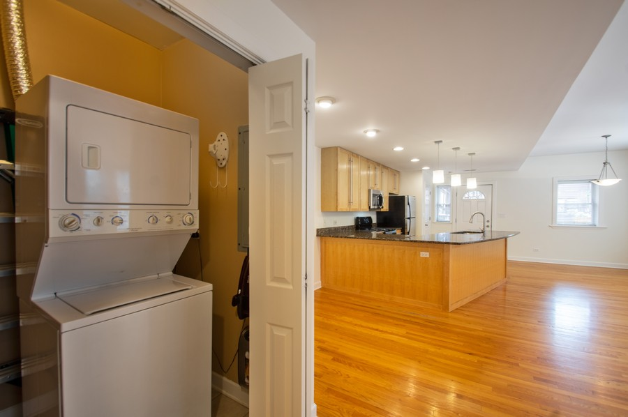 Real Estate Photography - 845 West Lawrence Ave, 2W, Chicago, IL, 60640 - Laundry Room