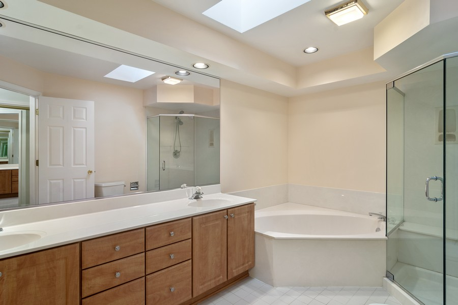Real Estate Photography - 521 Park Barrington Way, Barrington, IL, 60010 - Master Bathroom