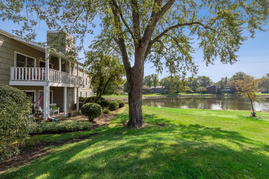 Real Estate Photography - 1470 Stonebridge Trl, 2-3, Wheaton, IL, 60189 - Rear View