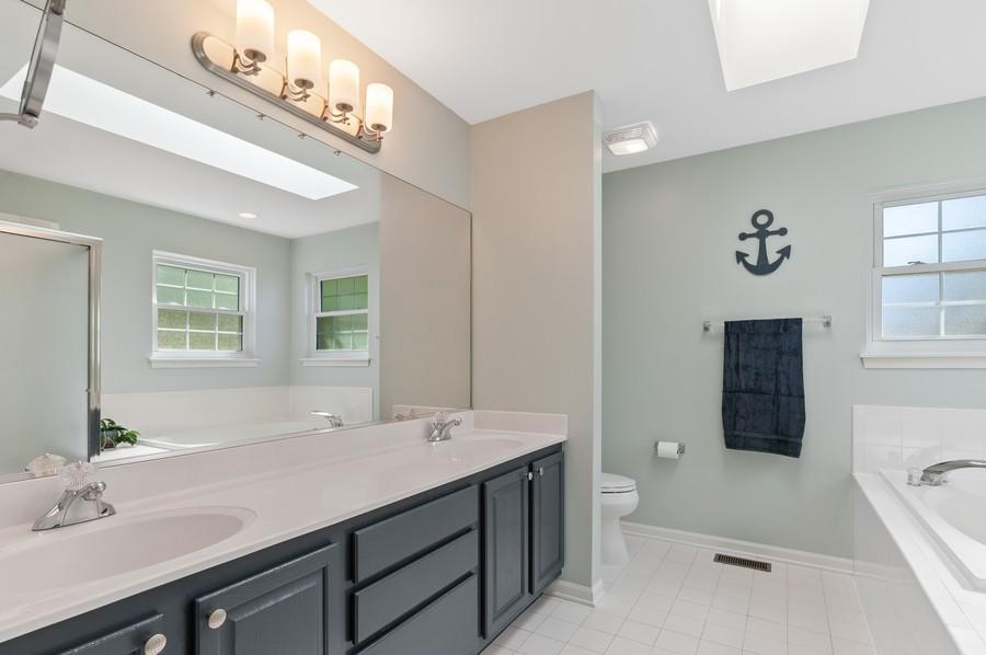 Real Estate Photography - 18601 West Meander Dr, Grayslake, IL, 60030 - Master Bathroom