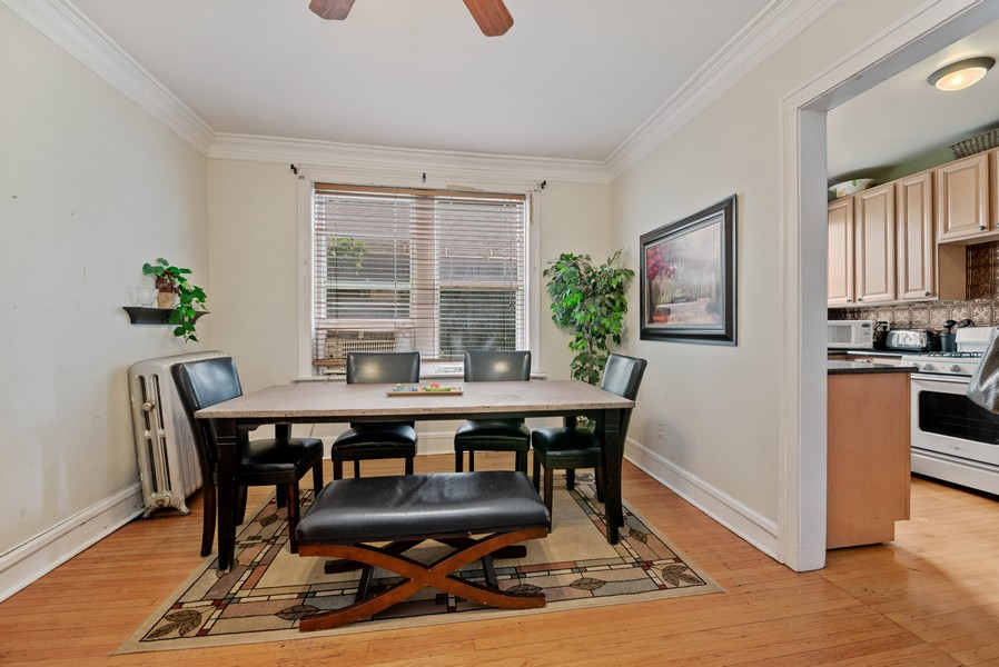 Real Estate Photography - 1151 West Waveland Ave, Chicago, IL, 60613 - Dining Room