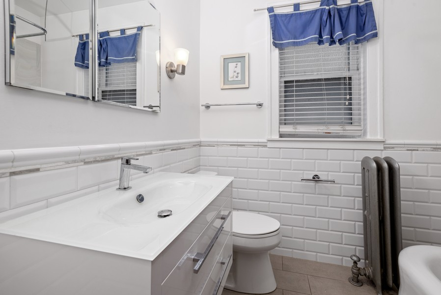 Real Estate Photography - 1151 West Waveland Ave, Chicago, IL, 60613 - 2nd Bathroom