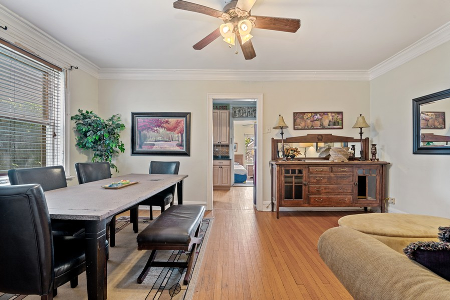 Real Estate Photography - 1151 West Waveland Ave, Chicago, IL, 60613 - Family Room / Kitchen