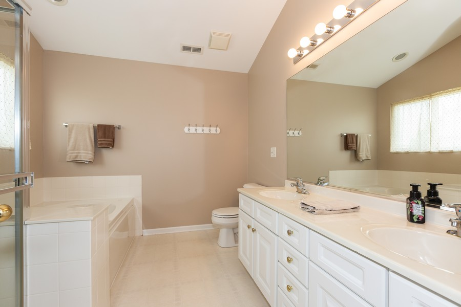 Real Estate Photography - 16511 Lanfear Dr, Lockport, IL, 60441 - Master Bathroom