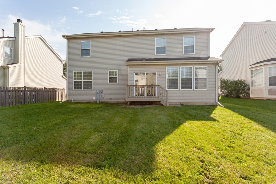 Real Estate Photography - 763 Sapphire Dr, Bolingbrook, IL, 60490 - Rear View