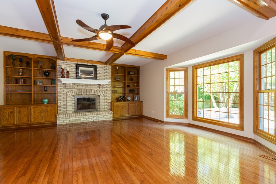 Real Estate Photography - 3011 Bennett Dr, Naperville, IL, 60564 - Family Room