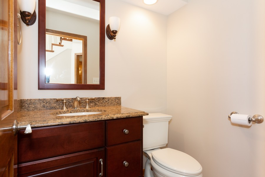 Real Estate Photography - 3011 Bennett Dr, Naperville, IL, 60564 - Powder Room