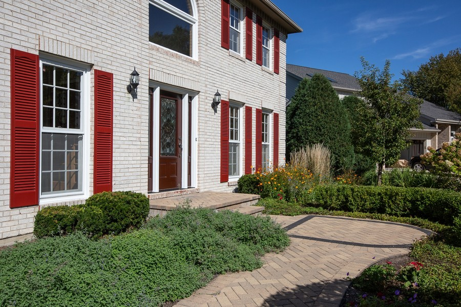 Real Estate Photography - 3011 Bennett Dr, Naperville, IL, 60564 - Exterior Front Paver Walkway