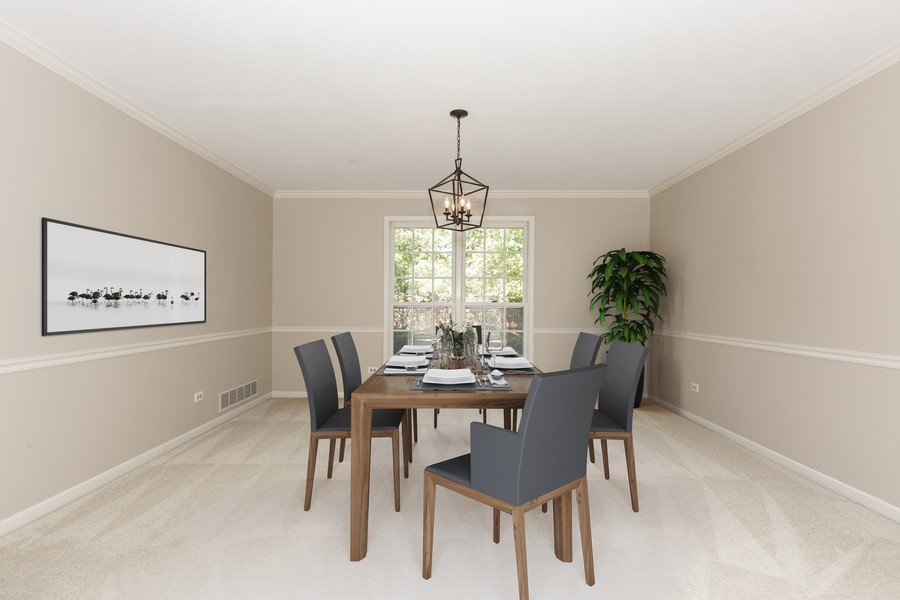 Real Estate Photography - 3011 Bennett Dr, Naperville, IL, 60564 - Virtual Staged Dining Room