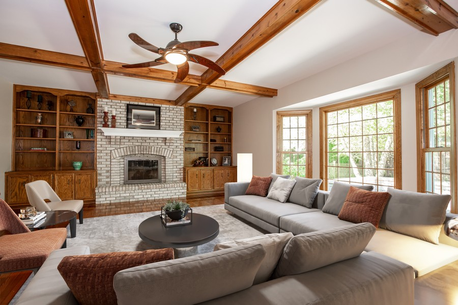 Real Estate Photography - 3011 Bennett Dr, Naperville, IL, 60564 - Virtual Staged Family Room