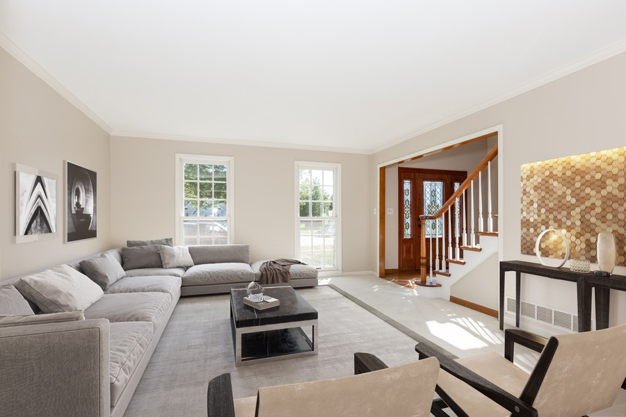 Real Estate Photography - 3011 Bennett Dr, Naperville, IL, 60564 - Virtual Staged Living Room