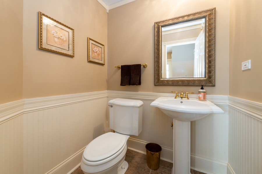Real Estate Photography - 1219 Gulfstream Pkwy, Libertyville, IL, 60048 - Powder Room