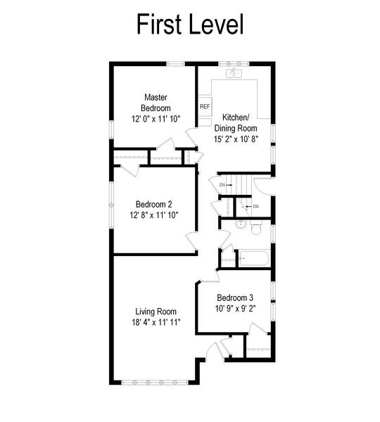 Real Estate Photography - 4347 West 108Th Pl, Oak Lawn, IL, 60453 - Floor Plan