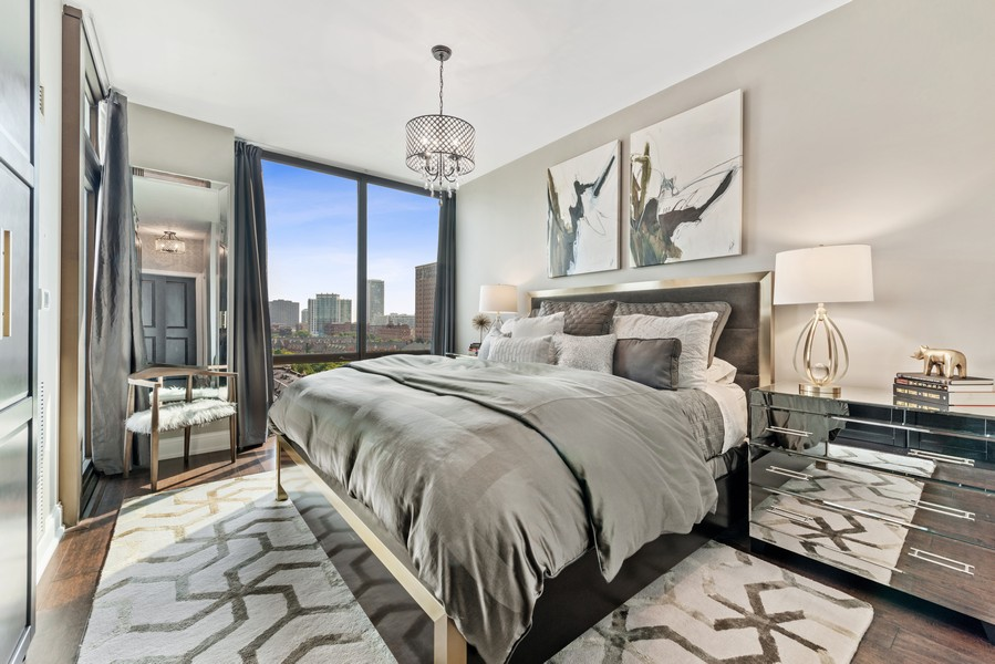 Real Estate Photography - 233 E 13th St, Unit 1006, Chicago, IL, 60605 - Master Bedroom