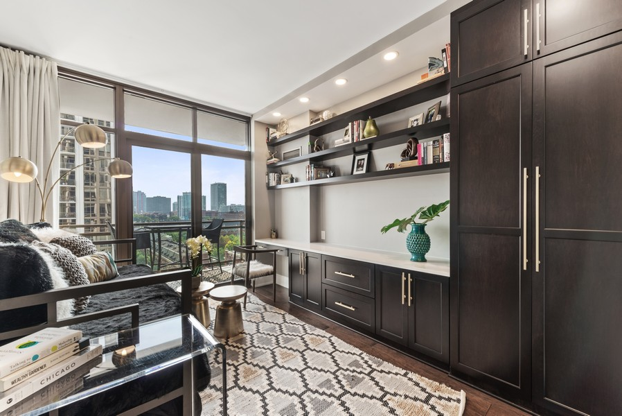 Real Estate Photography - 233 E 13th St, Unit 1006, Chicago, IL, 60605 - 2nd Bedroom