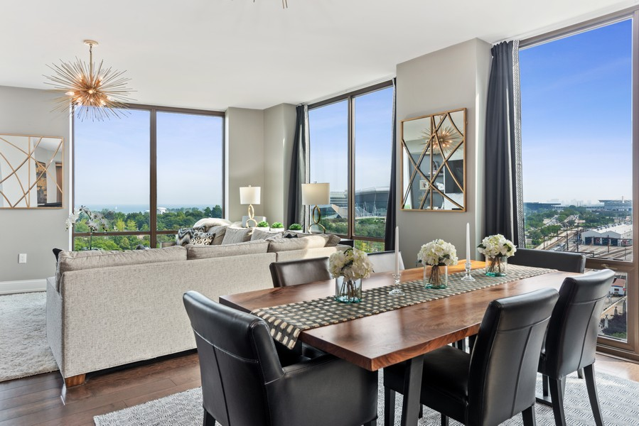 Real Estate Photography - 233 E 13th St, Unit 1006, Chicago, IL, 60605 - Dining Room