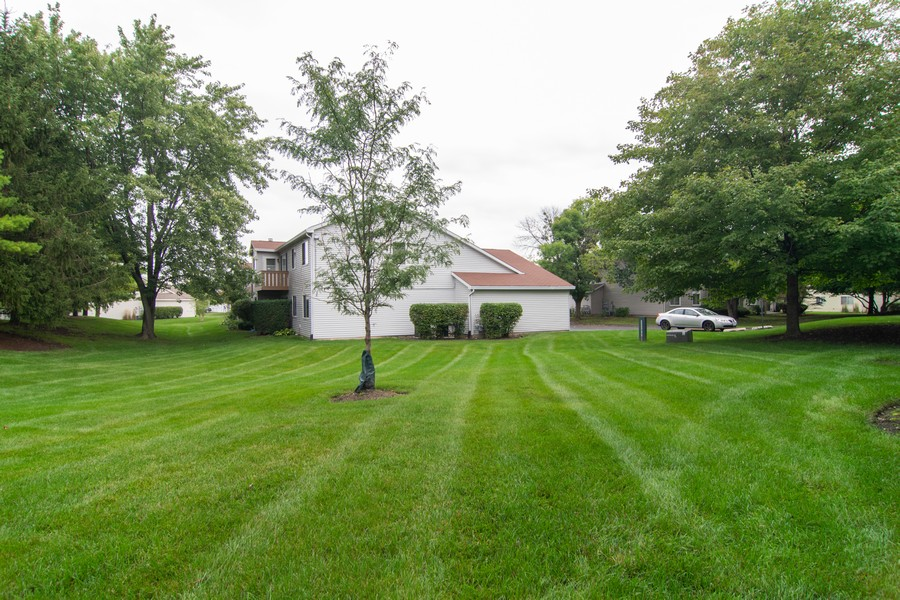 Real Estate Photography - 698 Greenfield Ct, C1, Bartlett, IL, 60103 - Back Yard