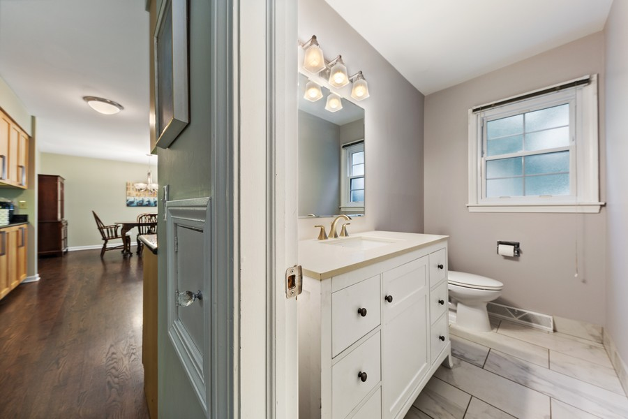 Real Estate Photography - 2S052 Big Horn Dr, Wheaton, IL, 60189 - Powder Room