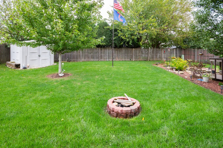 Real Estate Photography - 40 Ponderosa Dr, Romeoville, IL, 60446 - Back Yard