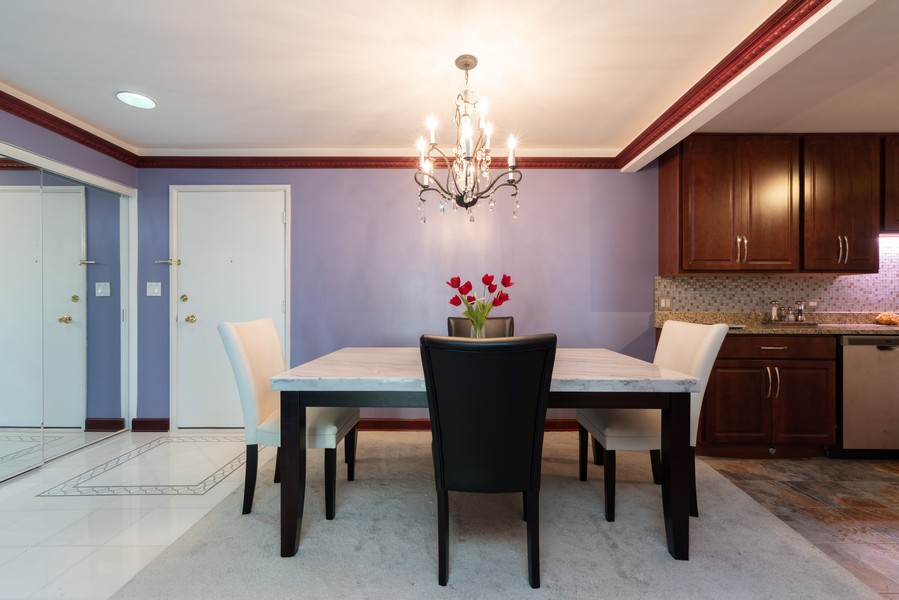 Real Estate Photography - 205 Ridge Rd, 204, Wilmette, IL, 60091 - Dining Room