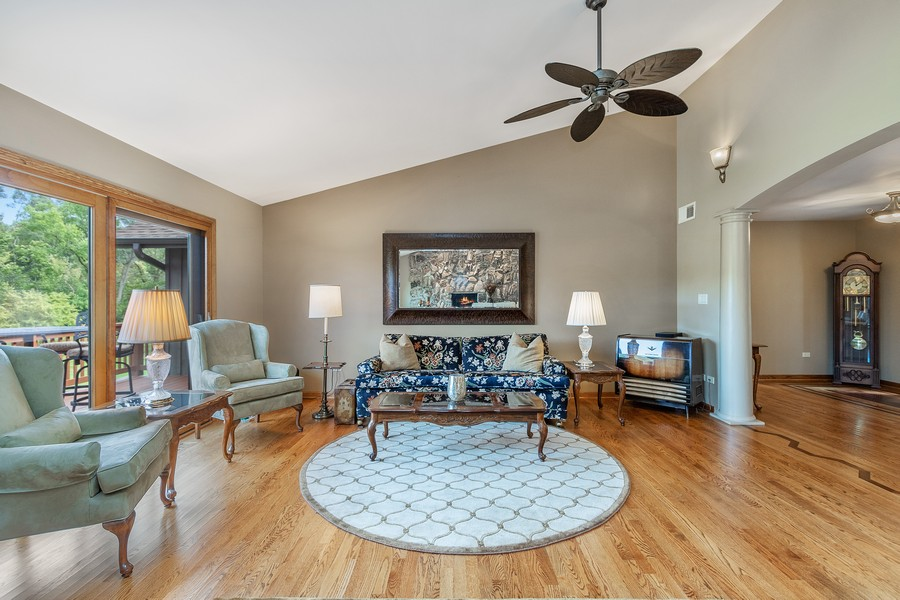 Real Estate Photography - 24650 West Middle Fork Rd, Barrington, IL, 60010 - Living Room