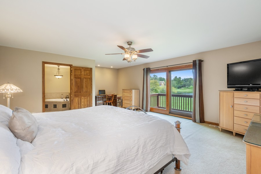 Real Estate Photography - 24650 West Middle Fork Rd, Barrington, IL, 60010 - Master Bedroom