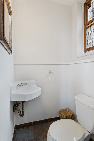 Real Estate Photography - 2202 North Halsted St, Chicago, IL, 60614 - Half Bath