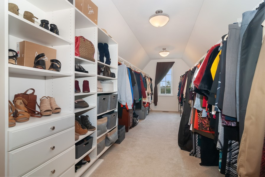 Real Estate Photography - 2538 Spring Green Way, Batavia, IL, 60510 - Master Bedroom Closet
