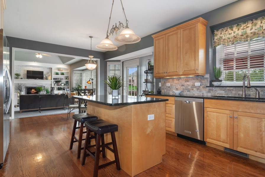 Real Estate Photography - 2538 Spring Green Way, Batavia, IL, 60510 - Family Room / Kitchen