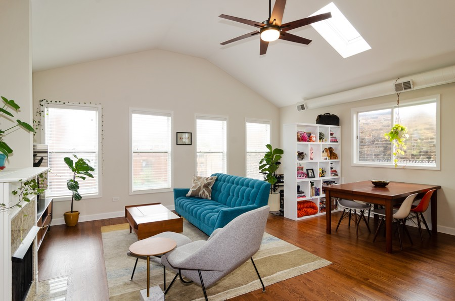 Real Estate Photography - 2303 West Chicago Ave, 4, Chicago, IL, 60622 - Living Room