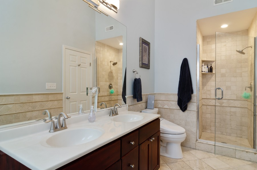 Real Estate Photography - 2303 West Chicago Ave, 4, Chicago, IL, 60622 - Master Bathroom