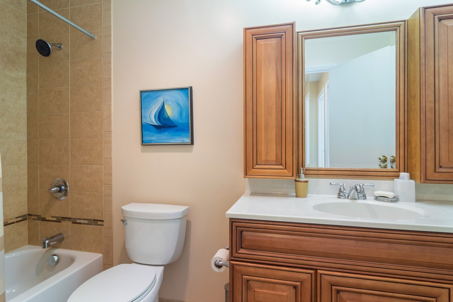 Real Estate Photography - 12 West Appletree Ln, Arlington Heights, IL, 60004 - 2nd Bathroom