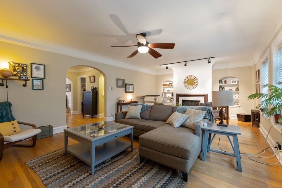 Real Estate Photography - 2640 West Fargo Ave, UNIT2, Chicago, IL, 60645 - Living Room