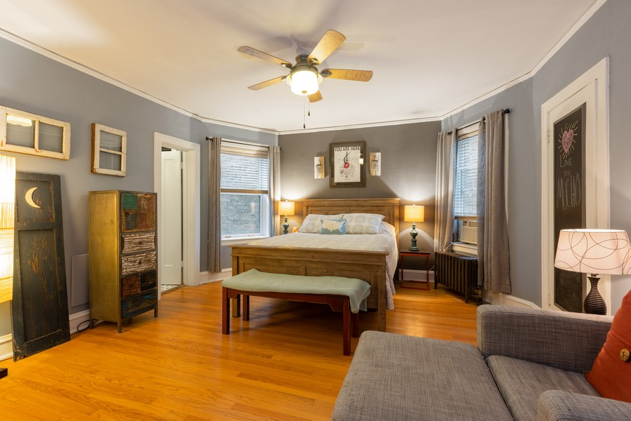 Real Estate Photography - 2640 West Fargo Ave, UNIT2, Chicago, IL, 60645 - Master Bedroom