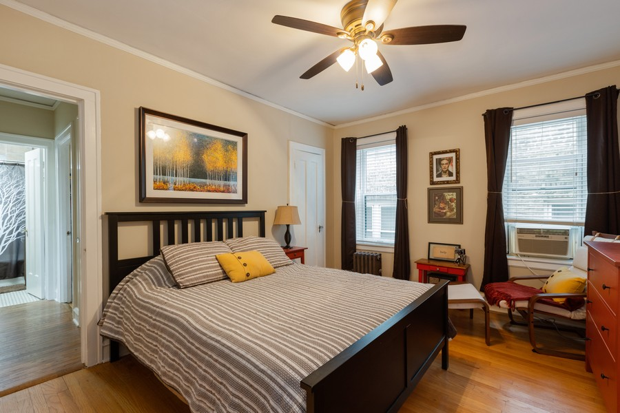 Real Estate Photography - 2640 West Fargo Ave, UNIT2, Chicago, IL, 60645 - Bedroom