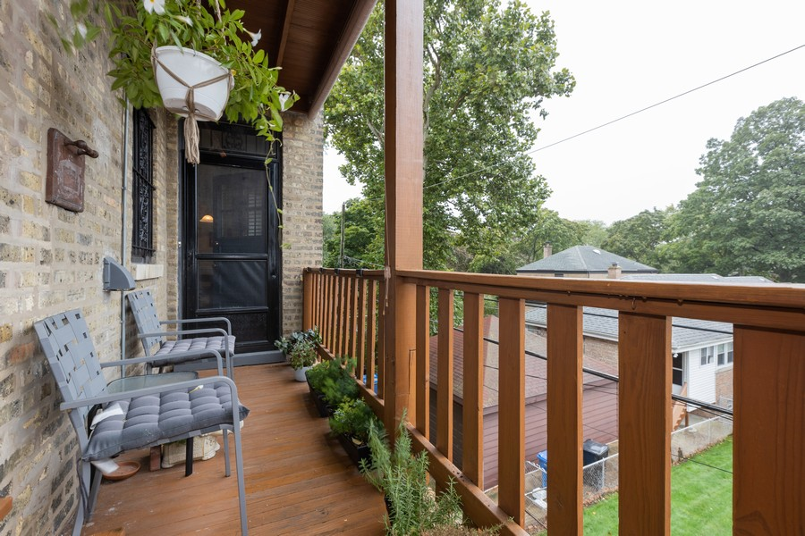 Real Estate Photography - 2640 West Fargo Ave, UNIT2, Chicago, IL, 60645 - Deck