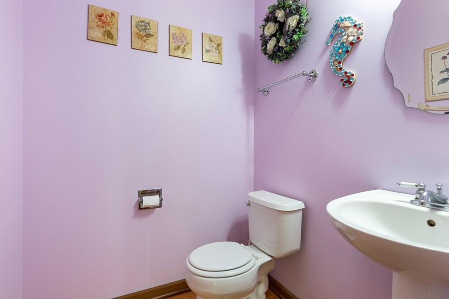 Real Estate Photography - 203 Heritage Trl, Hainesville, IL, 60030 - Powder Room