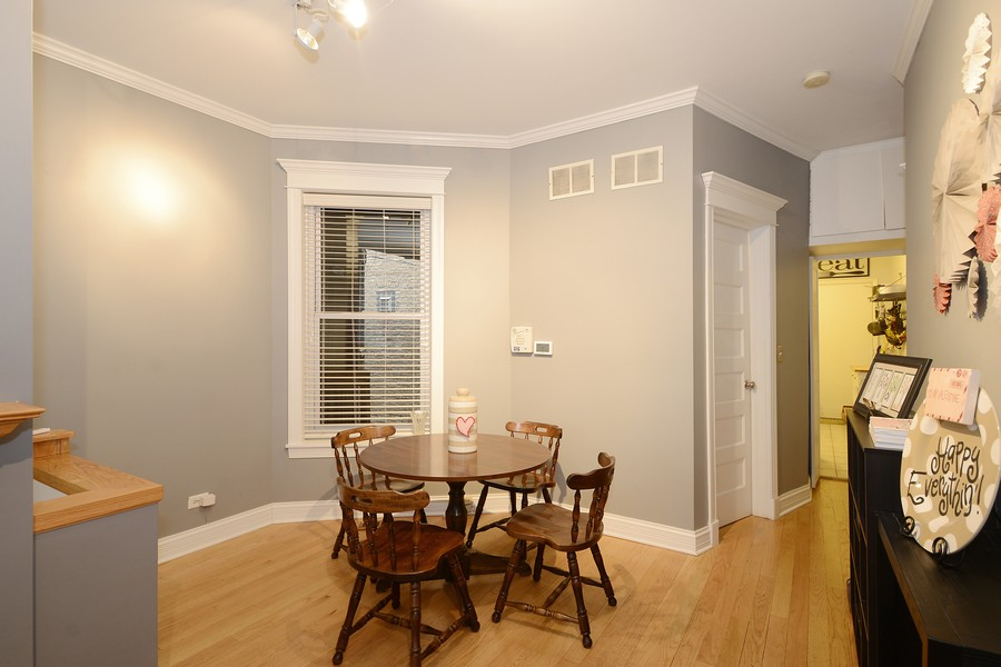 Real Estate Photography - 3804 N Fremont St, 1, Chicago, IL, 60613 - Dining Room