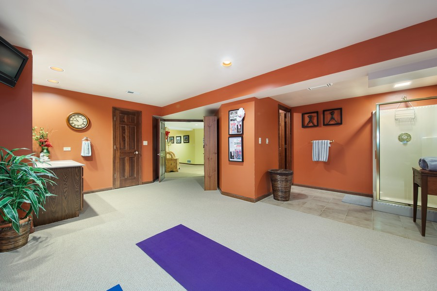 Real Estate Photography - 376 River Bluff Cir, Naperville, IL, 60540 - Fitness Room