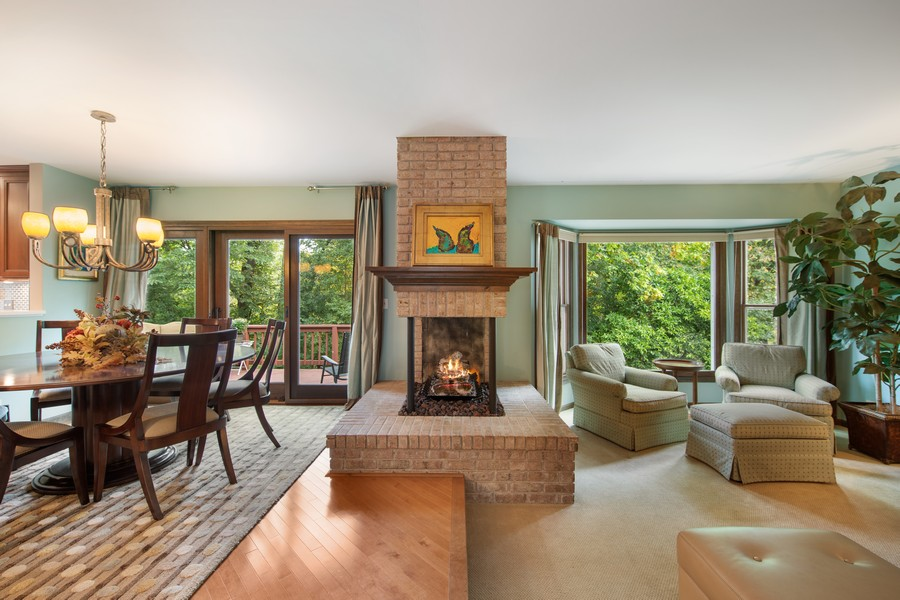 Real Estate Photography - 376 River Bluff Cir, Naperville, IL, 60540 - Living Room / Dining Room