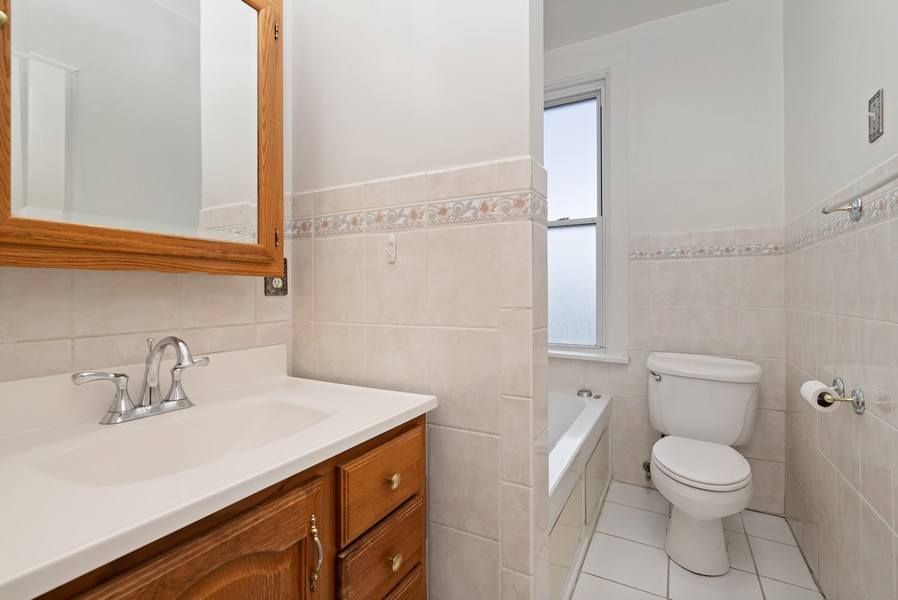 Real Estate Photography - 1820 W. Belle Plaine Ave., Chicago, IL, 60613 - Bathroom