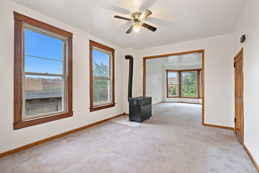 Real Estate Photography - 1820 W. Belle Plaine Ave., Chicago, IL, 60613 - Living Room / Dining Room