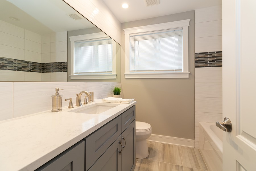 Real Estate Photography - 5229 South Natchez Ave, Chicago, IL, 60638 - Bathroom