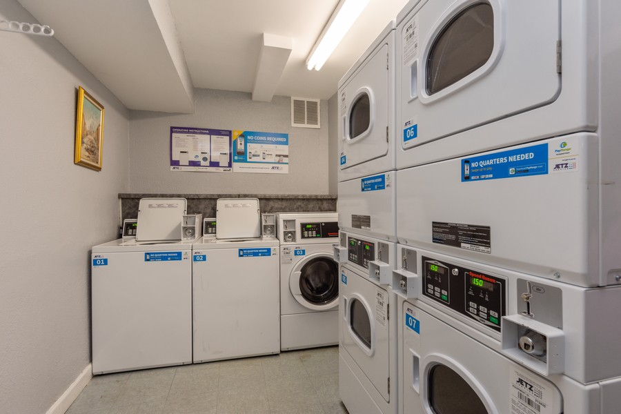 Real Estate Photography - 1 Oak Creek Dr, 2307, Buffalo Grove, IL, 60089 - Laundry Room