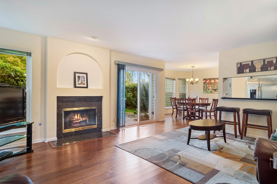 Real Estate Photography - 583 North Charter Hall Dr, Palatine, IL, 60067 - Living Room
