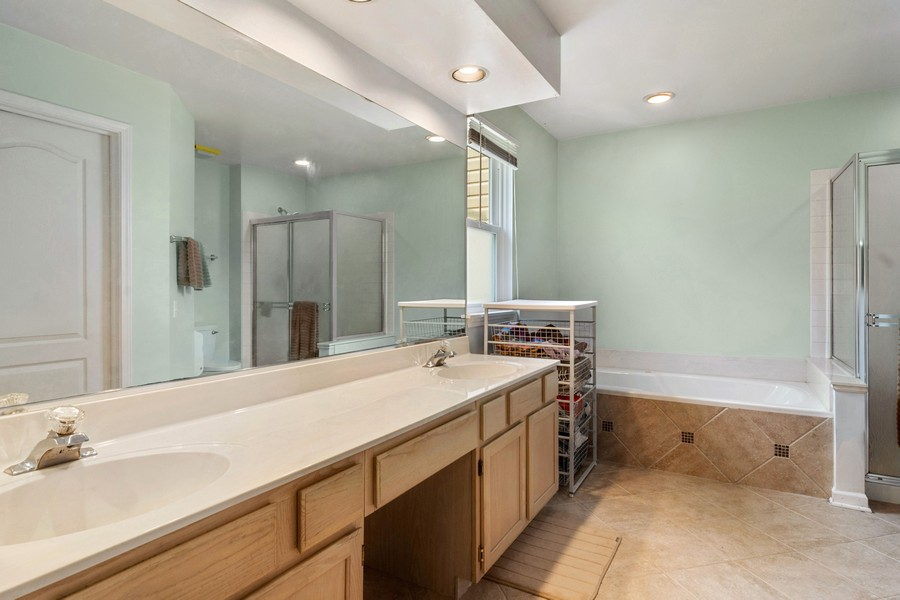 Real Estate Photography - 583 North Charter Hall Dr, Palatine, IL, 60067 - Master Bathroom
