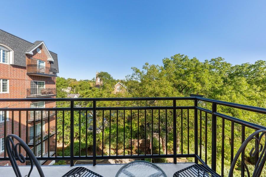 Real Estate Photography - 501 Forest #506, Glen Ellyn, IL, 60137 - Balcony